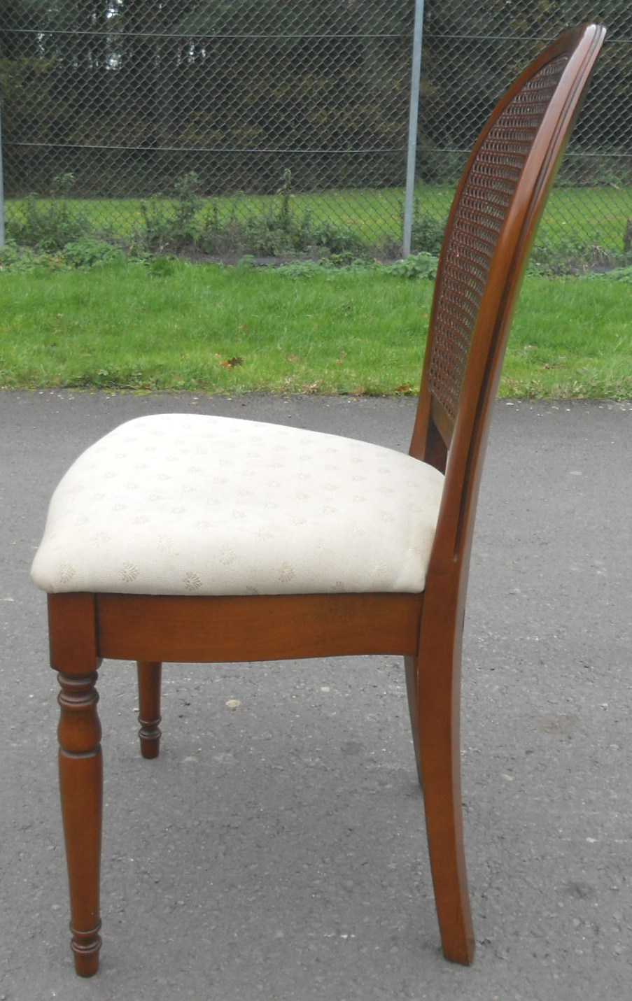 Sold Set Of Six Walnut Oval Back Bergere Dining Chairs